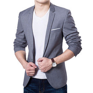 Dark Grey / 4XLMen Suit Jacket Blazer Cardigan Jaqueta Wedding Suits Jackets