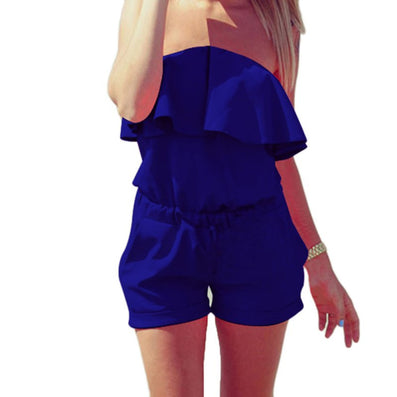 Women Rompers and Jumpsuit Sexy Strapless Fashion Solid Summer Shorts-Dollar Bargains Online Shopping Australia