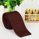 Men's Fashion Solid Tie Knit Knitted Tie Plain Necktie Narrow Slim Skinny Woven-Dollar Bargains Online Shopping Australia