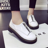 Spring zip women's platform shoes solid oxford shoes for women round toe casual shoes woman vintage creepers female-Dollar Bargains Online Shopping Australia