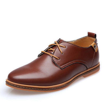 Men Leather Shoes Oxfords New European Men Fashion Big Size Dress Shoes  Loafers Sapatos Male Lace 521ae3beef3a