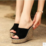 princess wedges slippers platform women's platform shoes ultra high heels open toe cutout female sandals-Dollar Bargains Online Shopping Australia