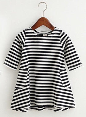 1pc Family Dress Mother Daughter Summer Long Sleeve Striped Family Look Matching Clothes Mom And Daughter Dress Family Clothing-Dollar Bargains Online Shopping Australia