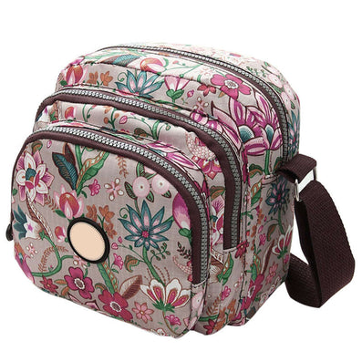 Korean Fashion Women Messenger Bags Canvas Flower Print Crossbody Shoulder Bags Small Ladies Designer Mom Handbags-Dollar Bargains Online Shopping Australia