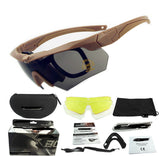 Tactical Military Goggles Army Glasses Polarized Sunglasses Cycling Hiking Eyewear Cross Eyeshield 3ls / 5ls Lens Kit HT12-0005-Dollar Bargains Online Shopping Australia