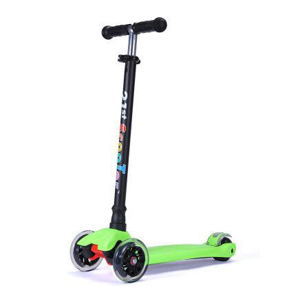 Light Green21st Scooter Flash Wheel Children 3-12 Years Outdoor Toys Baby Tricycle Four Wheels Kid Bike Slide Ride on Toy