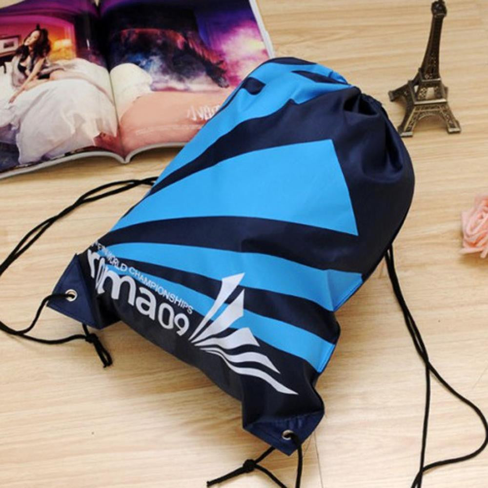 1Top Quality Double Layer Drawstring Gym Waterproof Backpacks Swimming Sports Beach Bag Travel Portable Fold Mini Shoulder Bags