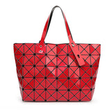 BaoBao Diamond Woman Handbag Plaid bag Tote Geometry Sequins Saser Plain Folding Briefcase Shoulder Bolso with Logo-Dollar Bargains Online Shopping Australia