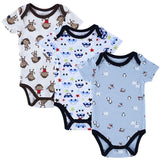 3 Pieces/lot Baby Romper Girl and Boy Short Sleeve Leopard Print Summer Clothing Set for Newborn Next Jumpsuits & Rompers-Dollar Bargains Online Shopping Australia