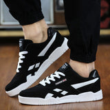 New fashion Brand Men Shoes Casual Lace Up Canvas Shoes Men Flats Shoes For Male Trainers Black size38-47-Dollar Bargains Online Shopping Australia