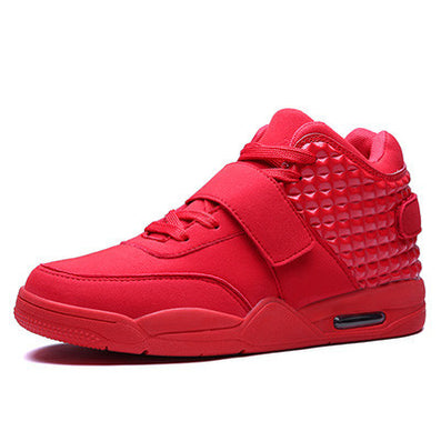 Men Casual Shoes High Top Fashion Suede Leather Flat Women Trainers Basket Femme Red Bottom Zapatillas Hombre Black Sport Lovers-Dollar Bargains Online Shopping Australia