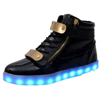 lights up led luminous casual shoes high glowing with charge simulation sole for women & men adults neon basket-Dollar Bargains Online Shopping Australia
