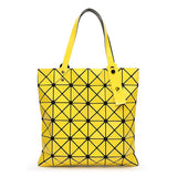 Ladies Folded Geometric Plaid Bag Women Fashion Casual Tote Top-handle Bag Shoulder Bags Bao Bao Pearl BaoBao Bolsas Handbags-Dollar Bargains Online Shopping Australia
