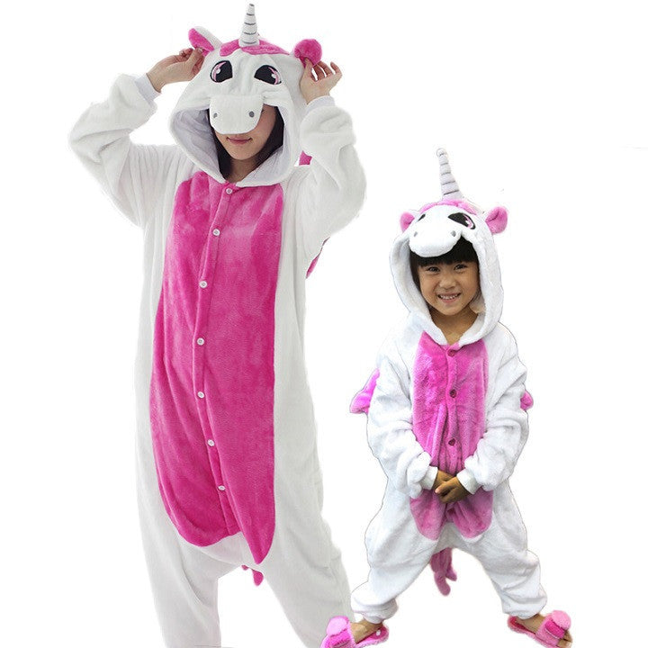 Animal pajamas one piece Family matching outfits Adult onesie Mother and  daughter clothes Totoro Dinosaur Unicorn
