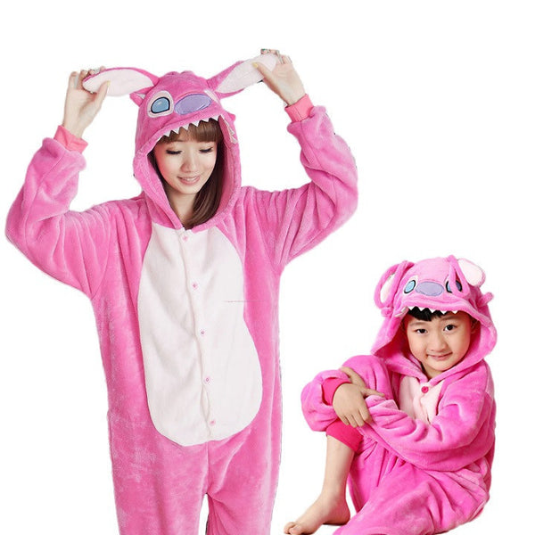 d3172f2175 Animal pajamas one piece Family matching outfits Adult onesie Mother and  daughter clothes Totoro Dinosaur Unicorn