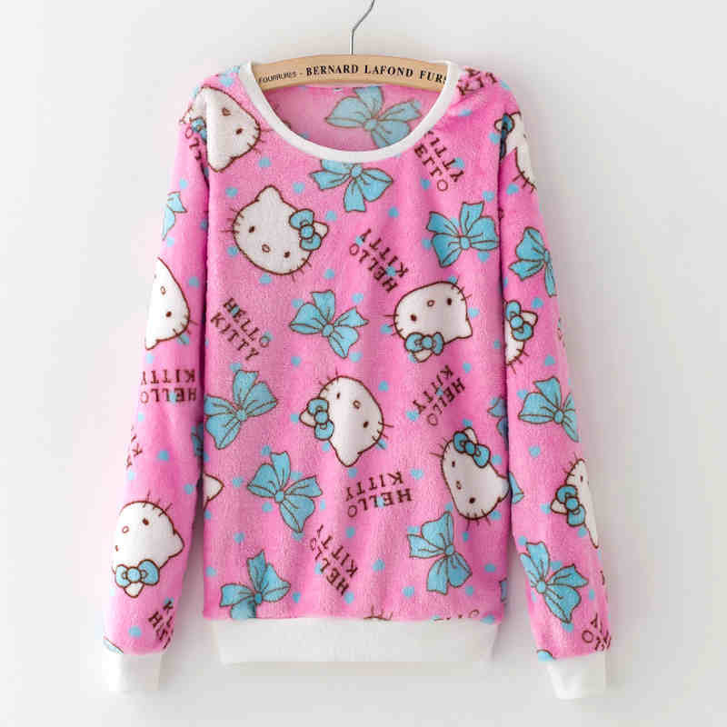 cat5 / LCute Teddy Bear Harajuku Christmas Sweater Womens Sweaters Fashion Winter Lined Wool Sweater Cashmere Knitted Sweater Wol