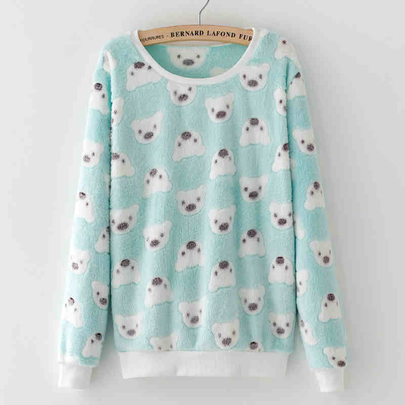 xiong15 / LCute Teddy Bear Harajuku Christmas Sweater Womens Sweaters Fashion Winter Lined Wool Sweater Cashmere Knitted Sweater Wol