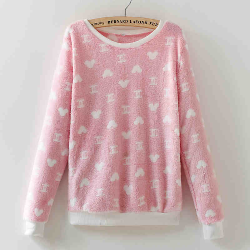 xiangnaier16 / LCute Teddy Bear Harajuku Christmas Sweater Womens Sweaters Fashion Winter Lined Wool Sweater Cashmere Knitted Sweater Wol