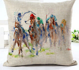 New Arrival High Quality Horse Home living Cotton linen Decorative Pillow Throw Pillow Square Cojines-Dollar Bargains Online Shopping Australia