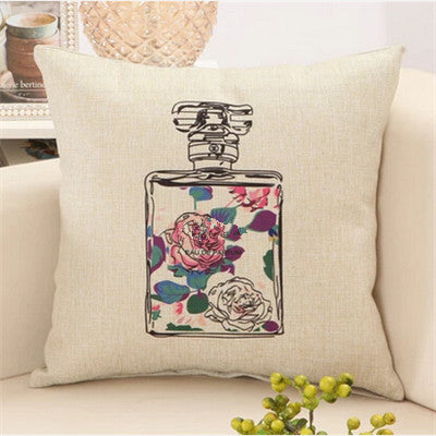 1 / 45x45cmFashion red lips cushion without inner lipstick perfume bottle home sofa decorative pillow car seat capa de almofada cojines