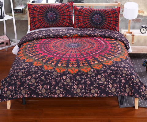 BeddingOutlet Mandala Bedding Set Concealed Bedspread Duvet Cover 2Pcs or 3Pcs Boho Bedlinen Twin Full Queen King Cal-King New-Dollar Bargains Online Shopping Australia