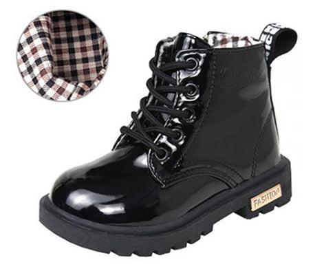 Children shoes autumn and winter children Korean version of leather boots leather waterproof boots kids shoes-Dollar Bargains Online Shopping Australia