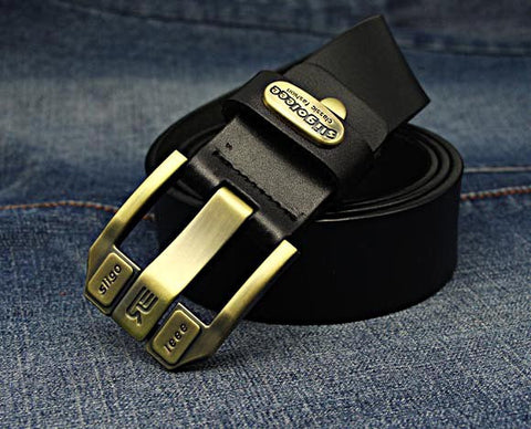 Designer Brand Belt for Men High Quality Genuine Leather Gold Pin Buckle Belt Men Vintage Casual Women Jeans Belt-Dollar Bargains Online Shopping Australia