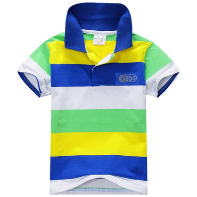 Baby Boys Kid Tops T-Shirt Summer Short Sleeve T Shirt Striped Polo Shirt Tops-Dollar Bargains Online Shopping Australia
