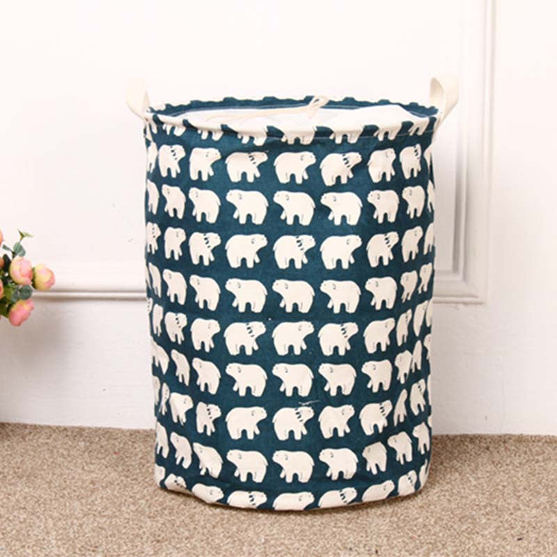 Unique Foldable Cotton Linen Washing Clothes Laundry Basket Bag Hamper Storage