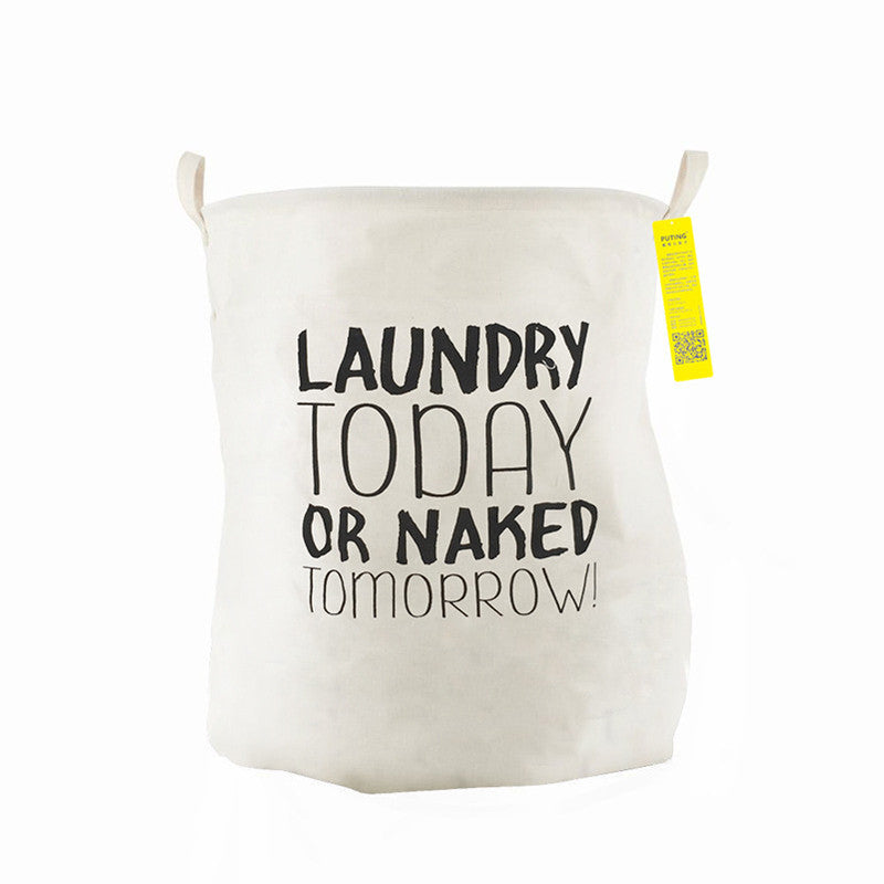 LAUNDRY TODAYUnique Foldable Cotton Linen Washing Clothes Laundry Basket Bag Hamper Storage