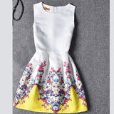 Actionclub Mother Daughter Dresses Family Matching Clothing Girls Dress Sleeveless Formal Print A-line Dress For Summer Kid-Dollar Bargains Online Shopping Australia