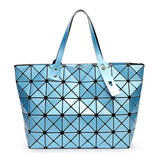 Women Bag Lady Geometry Package Sequins Mirror Saser Plain Split Joint Mujer Shoulder Bags Large Top Handle Tote-Dollar Bargains Online Shopping Australia