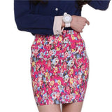 5 colors Spring summer women Fashion Girl flower full Printing Short Skirts Elastic hip Skirt New M L size-Dollar Bargains Online Shopping Australia