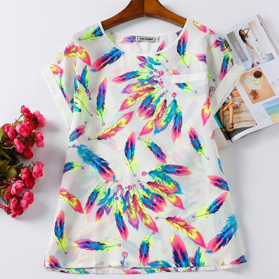 Print Tops Casual Cheap Clothes Summer Fashion t Shirt Women Tops Tee-Dollar Bargains Online Shopping Australia