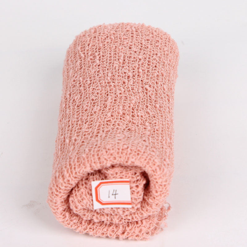 Baby photography props blanket rayon wraps stretch knit wrap newborn photo wraps hammock swaddling padding nubble