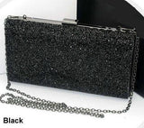 Woman Evening bag Women Diamond Rhinestone Clutches Crystal Day Clutch Wallet Wedding Purse Party Banquet Black/Gold/Silver-Dollar Bargains Online Shopping Australia