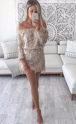 new fashion women brand playsuit casual rompers off shoulder summer Tassel sequins palysuit Plus Size-Dollar Bargains Online Shopping Australia