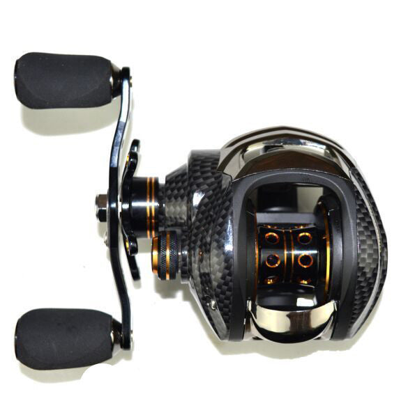 LB200 LEFT HANDDouble Brake Baitcasting Reel 18 Ball Bearings Fishing Gear Water Drop Wheel Right/Left Hand Bait Casting Fishing Reel Lure Reel