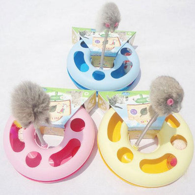 Creative Kettle Cat Toy Spring Mice Crazy Multifunctional Disk Play Activity Pet Toys-Dollar Bargains Online Shopping Australia
