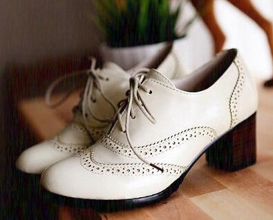 Carved British Style Oxford Shoes for Women Flat Lace Up Women Oxfords Ladies Casual Spring & Autumn Flat Lolita Shoes-Dollar Bargains Online Shopping Australia