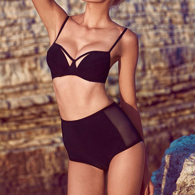New Arrival Retro High Sexy High Weast Bikini Set Swimwear Womens Swimsuit High Waisted Bathing Suit Beach Wear biquini-Dollar Bargains Online Shopping Australia