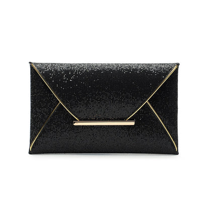 Fashion Womens Sequins Envelope Bag Evening Party Female Clutch Evening Bag Purse for Women Black-Dollar Bargains Online Shopping Australia