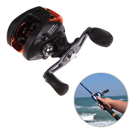 Right Black(Left and Right) PAF103 10+1BB Ball Bearings Hand Bait Casting Fishing Reel High Speed Bait Casting Pesca 6.3:1 Blue and Black