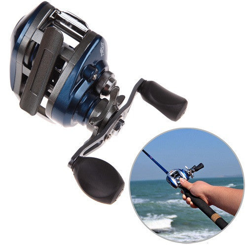 (Left and Right) PAF103 10+1BB Ball Bearings Hand Bait Casting Fishing Reel High Speed Bait Casting Pesca 6.3:1 Blue and Black