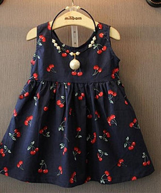 2-11years Baby Girl Dress Clothes Floral Print Girls Dress Summer Costume Casual Clothes-Dollar Bargains Online Shopping Australia