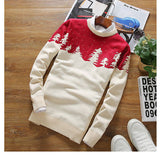 Autumn/Winter Sweater Men woods print Sweater Christmas Day Gift Pullover Winter Warm Casual Knitted Sweater XS-L-Dollar Bargains Online Shopping Australia