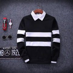 Tracksuit Men Fashion Hip Hop striped Hoodies Pullover Sweat Shirt Black Tide Hispter Men Women Moleton-Dollar Bargains Online Shopping Australia