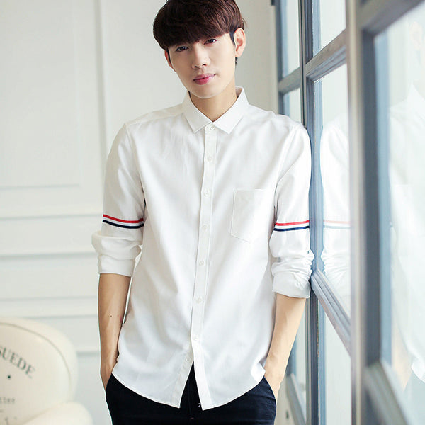 1e073ae1a929 Shirt Men preppy style New Arrival men's Casual Plaid long sleeve Shirts  men's Fashion Camisa Masculina