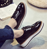 England Style Women Shoes Trifle Oxfords Carved Vintage Bullock Shoes Woman Lace-up Fashion Platform Creppers XWD4395-Dollar Bargains Online Shopping Australia