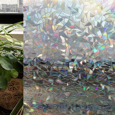Window Films,Home Decorate Premium No-Glue 3D Static Decorative Film, Window Stickers, 60 x 200Cm-Dollar Bargains Online Shopping Australia